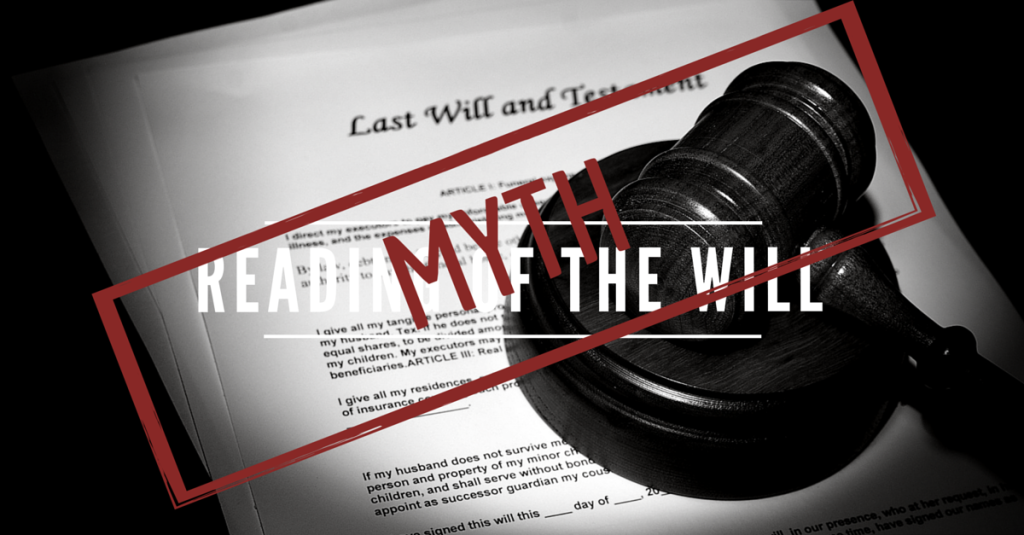 Probate Attorney Reading of the Will